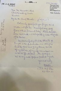 Dr AQ Khan's letter